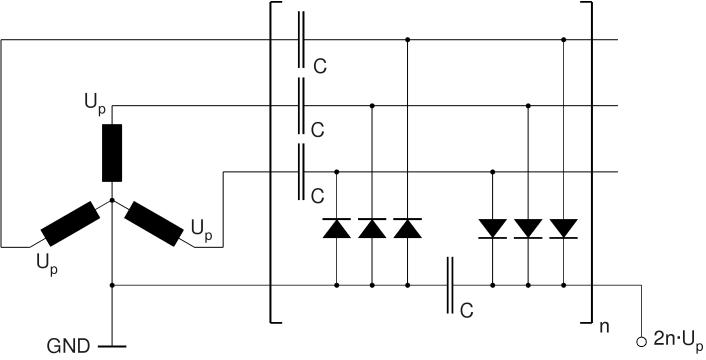 High voltage on circuit diagram voltage multiplier Full Wave Rectifier Circuit Diagram Voltage Tripler Circuit